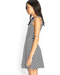 af492656e0 ... Forever 21 Chevron Striped Cutout Dress ...
