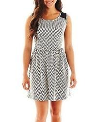8abc765595 ... jcpenney Bebop Chevron Print Skater Dress