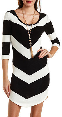 423b04fe3e2 ... Charlotte Russe Chevron Stripe Sweater Dress ...