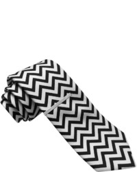 Black and White Chevron Tie