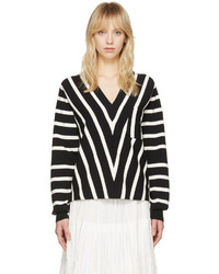 Black striped sailor pullover medium 3644603