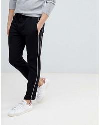 Mango Man Side Stripe Pants In Black