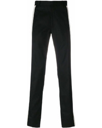 Alexander McQueen Striped Slim Leg Twill Trousers