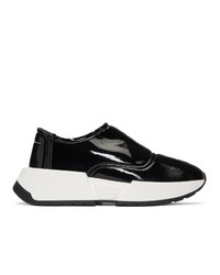 MM6 MAISON MARGIELA Black Chunky Slip On Sneakers