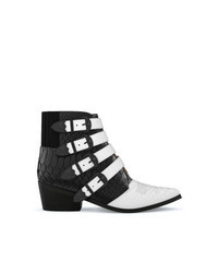 Black and White Cowboy Boots