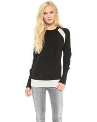 Black and white crew neck sweater original 4220643