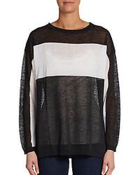 525 America Colorblock Stripe Linen Blend Pullover