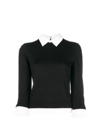 Alice + Olivia Aliceolivia Contrast Collar And Cuffs Jumper