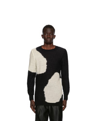 Ann Demeulemeester Black And White God Of Wild Spots Sweater