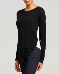 Aqua Cashmere Sweater Devon Color Block Crewneck
