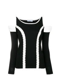 Blumarine Cut Out Shoulder Sweater