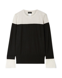 Akris Two Tone Med Cashmere And Mulberry Sweater