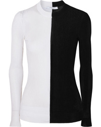 Givenchy Two Tone Ribbed Knit Sweater