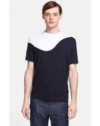 Black and White Crew-neck T-shirt
