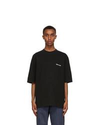 Balenciaga Black Bb Medium Fit T Shirt