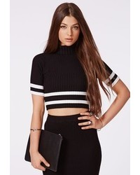 Black and white cropped sweater original 4662509