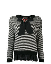 Twin-Set Embellished Bow Jumper