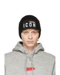 DSQUARED2 Black Wool Icon Beanie