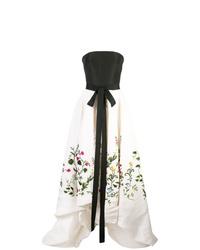 Oscar de la Renta Botanical Garden Embroidered Gown