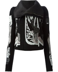 Rick Owens Embroidered Biker Jacket