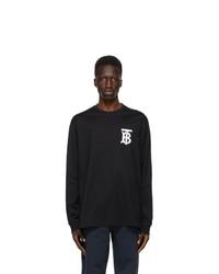 Burberry Black Tb Monogram Atherton Long Sleeve T Shirt