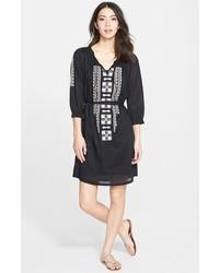 Caslon Embroidered Cotton Dress