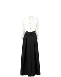 Carolina Herrera Two Tone Front Button Gown