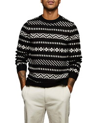 Topman Abstract Knit Sweater