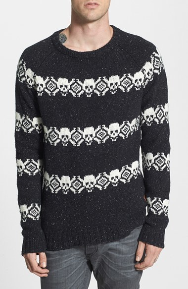 Deus Ex Machina Skull Fair Isle Sweater | Where to buy & how to wear