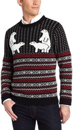 alex stevens polar bear pair ugly christmas sweater