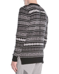 Givenchy Striped Fair Isle Sweater Blackwhite | Where to buy & how ...