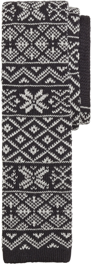 Brooks Brothers Fair Isle Knit Tie | Where to buy & how to wear