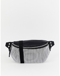 New Look Diamante Bumbag In Black