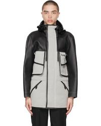 Burberry Black White Horseferry Jacket