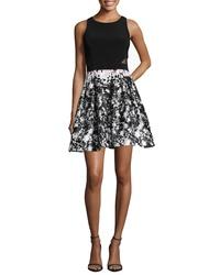XSCAPE Print Skirt Party Dress