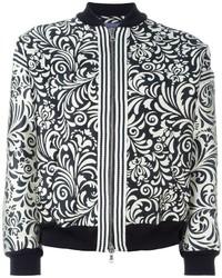 Emanuel floral jacquard bomber jacket medium 535849