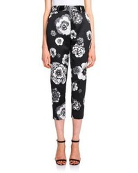MSGM Floral Cropped Pants
