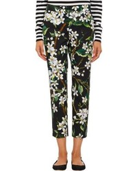 Floral poplin cropped pants medium 215915