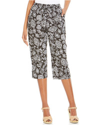 Floral print capri pants medium 215913