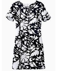 Black and white floral pencil dress medium 50191