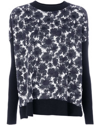 Abstract floral sweater medium 6469636
