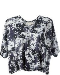Floral print cropped t shirt medium 88458
