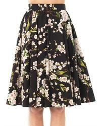 Almond blossom print skirt medium 22205