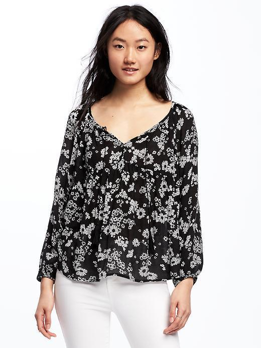 569bcd23a0525f Old Navy Patterned Swing Blouse For, $10   Old Navy   Lookastic.com
