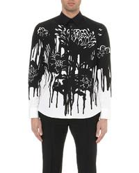Alexander McQueen Bleeding Floral Print Regular Fit Cotton Shirt