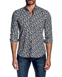 Jared Lang Regular Fit Floral Button Up Shirt