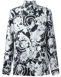 Versace Floral Print Shirt