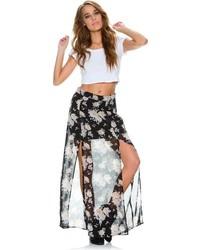 Vineyard floral maxi skirt medium 87467