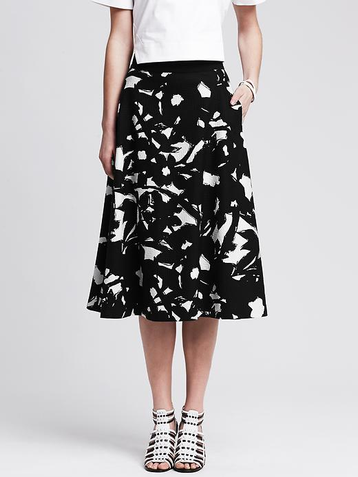 f3f11c096f Banana Republic Black Floral Midi Skirt, $110 | Banana Republic ...