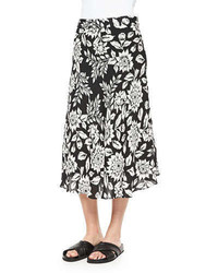 Follett floral print midi skirt medium 251848